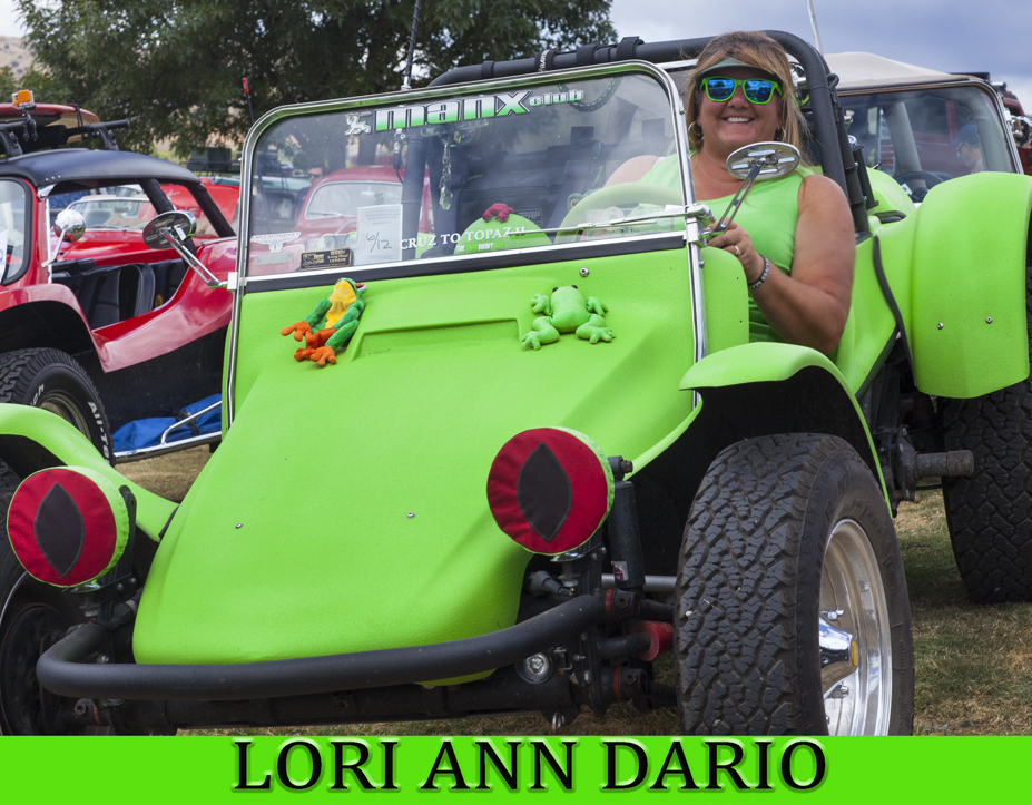 Lori Ann Dario and her green bug...