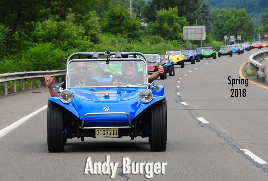 Andy Burger with the Manx Club...
